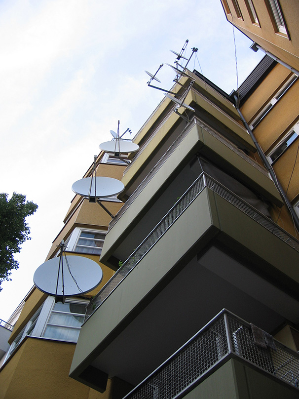 Satellite dishes galore in Neukoelln. - <em>by SK Mandal</em>