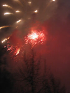 Fireworks during the <em>Fest der Freiheit</em> (Festival of Freedom) celebration of the 20th Anniversary of the Fall of the Wall. - <em>by SL Wong</em>