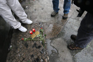 A commemoration is held every year in conjunction with the <em>Stolpersteine</em> memorials. - <em>by SL Wong</em>