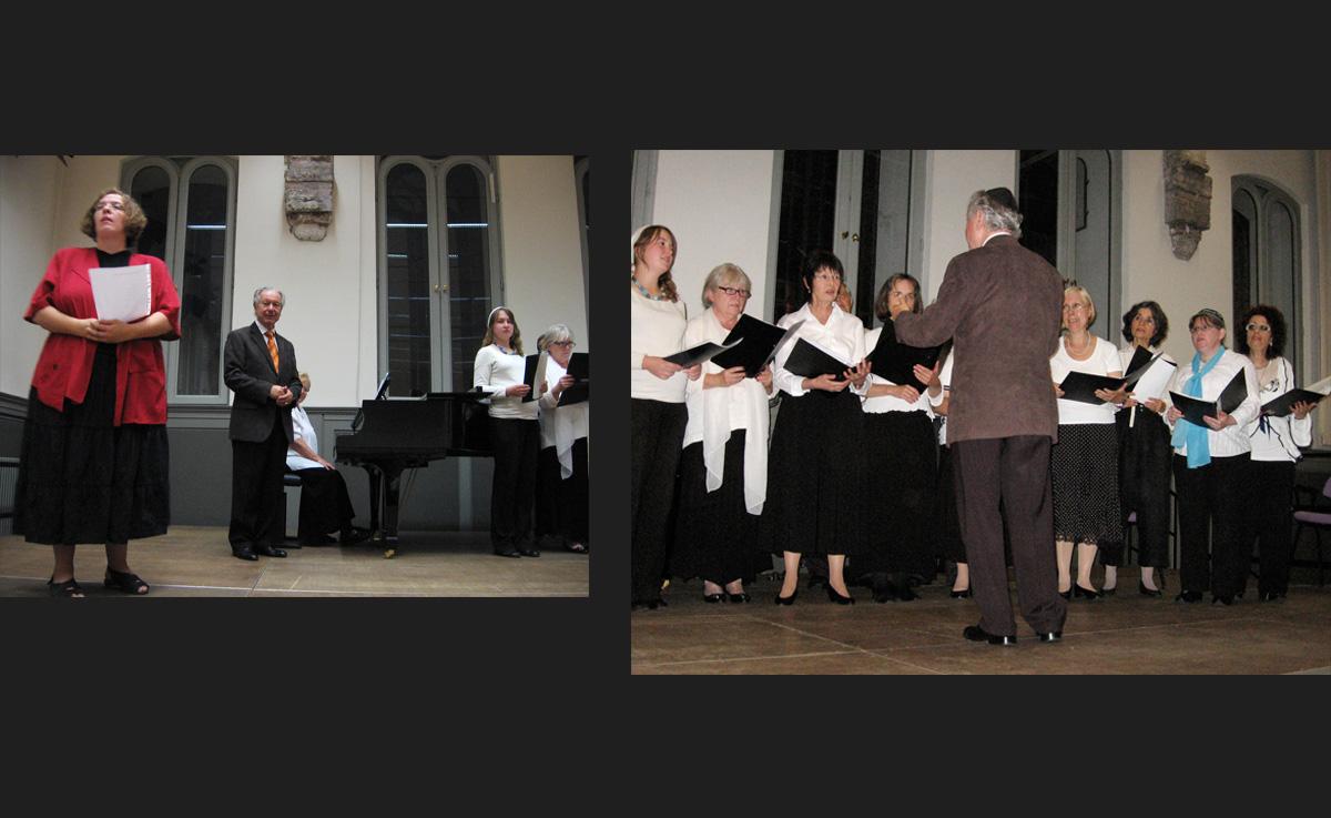 Rabbi Gesa Ederberg <em>(left)</em> introduced each song presented by the amateur choir, who gave a delightful performance. - <em>by SL Wong</em>