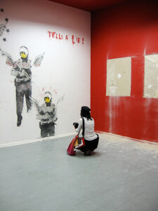 Media reports led to a focus on the Banksy often at the expense of Downey's work. - by SK Mandal
