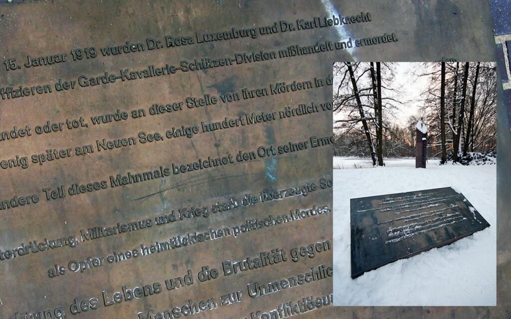 Plaques to Luxemberg and Liebknecht. <em> - by SL Wong</em>
