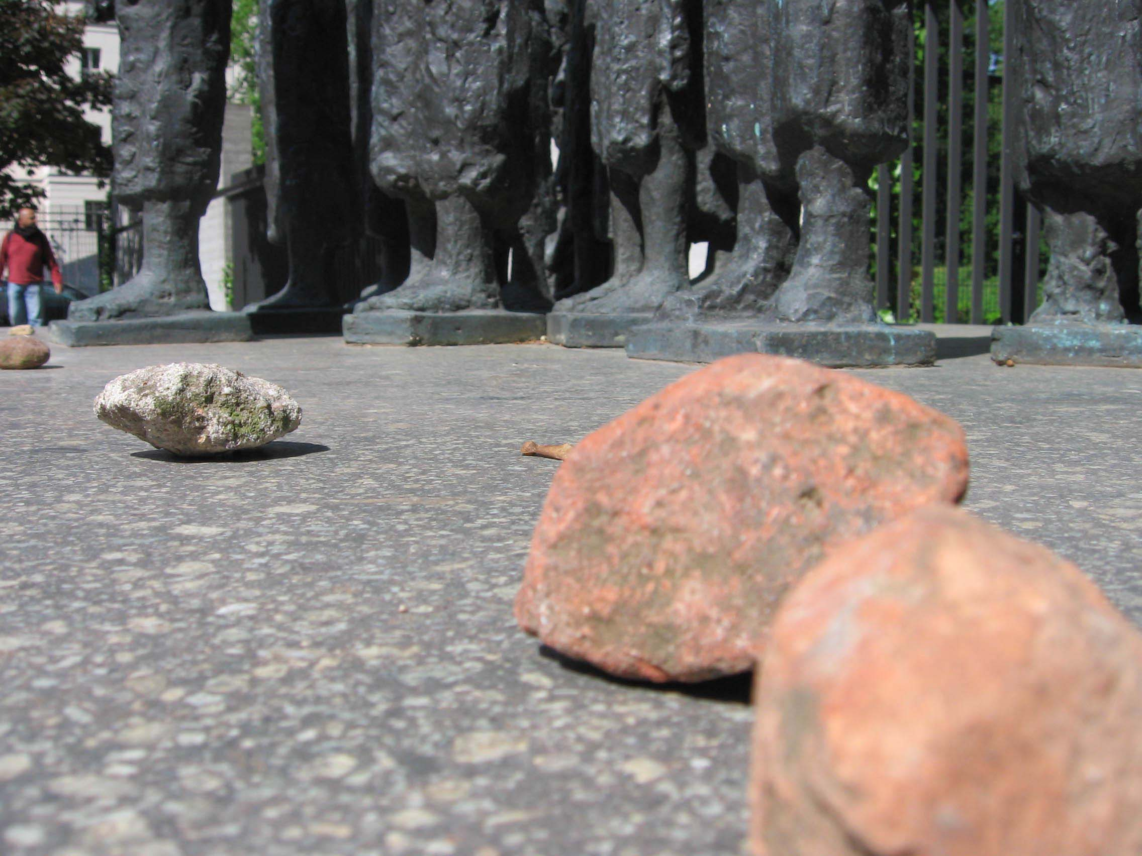 Respect is paid to the known and unknown Jewish victims of Nazism. - by SL Wong