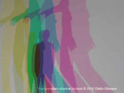 Visitors became the installation in 'Your uncertain shadow'. - <em>Your uncertain shadow (colour) © 2010 Olafur Eliasson</em>
