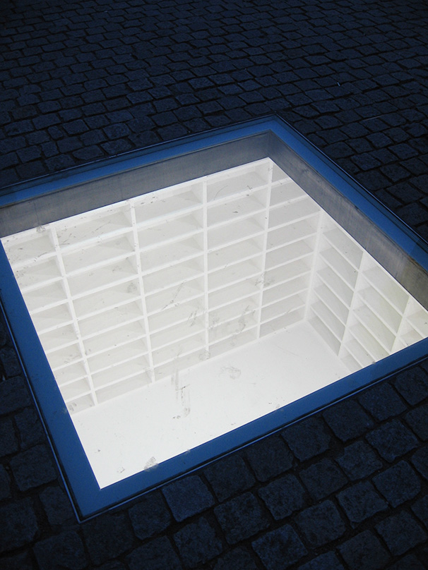 """The memorial 'Bibliotek' (Library) was created by artist Micha Ullman, son of German Jewish immigrants; his """"holes and constructions accentuate the emptiness of human structures"""" (Israel Museum). - <em>by SL Wong</em>"""