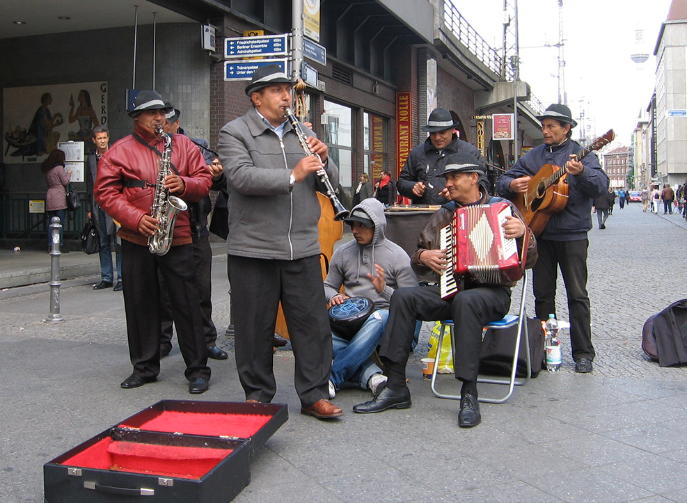 Music by buskers such this Roma troupe can liven up Berlin's drearier days. - <em>by SK Mandal</em>