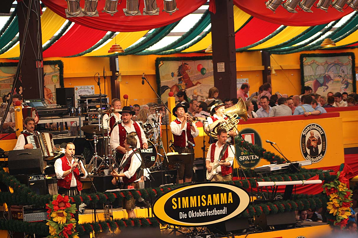 A band playing traditional Oktoberfest songs entertained the crowd. - <em>by SK Mandal</em>