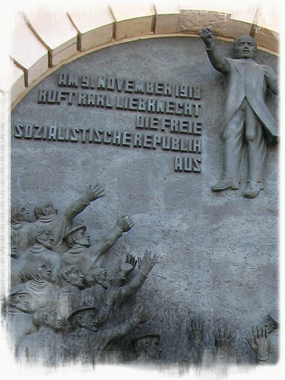 On 9th November 1918, Karl Liebknecht proclaimed the German Free Socialist Republic. - <em>by SK Mandal</em>