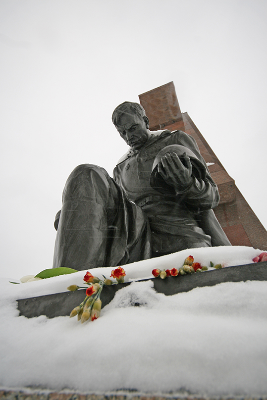 Soviet soldiers are commemorated in a memorial in the park. - <em>by SL Wong</em>