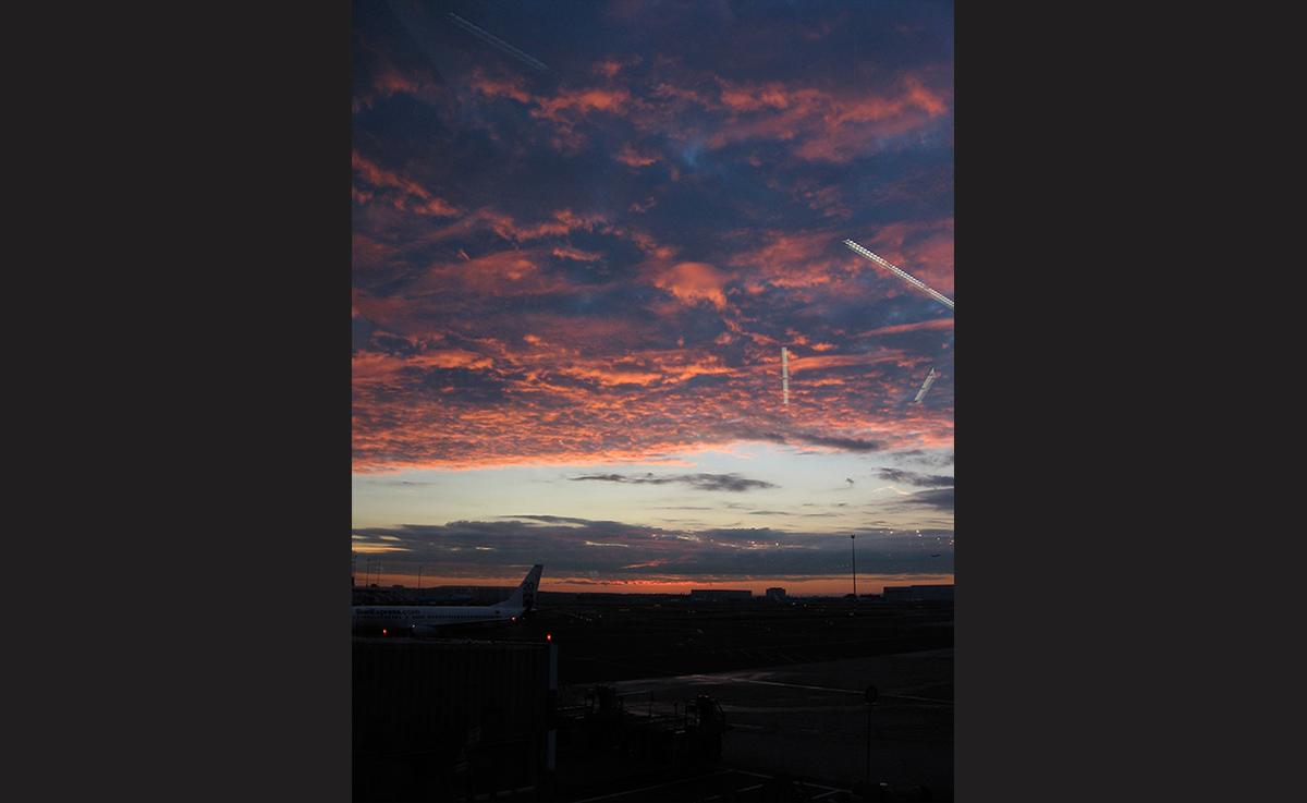 Dawn at Amsterdam Airport Schipol. - <em> by SL Wong</em>