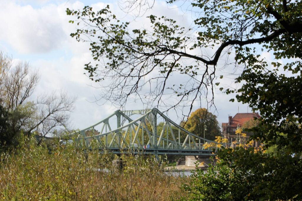 The bridge provides vistas of the landscaped surroundings and vice-versa. - <em>by SL Wong</em>