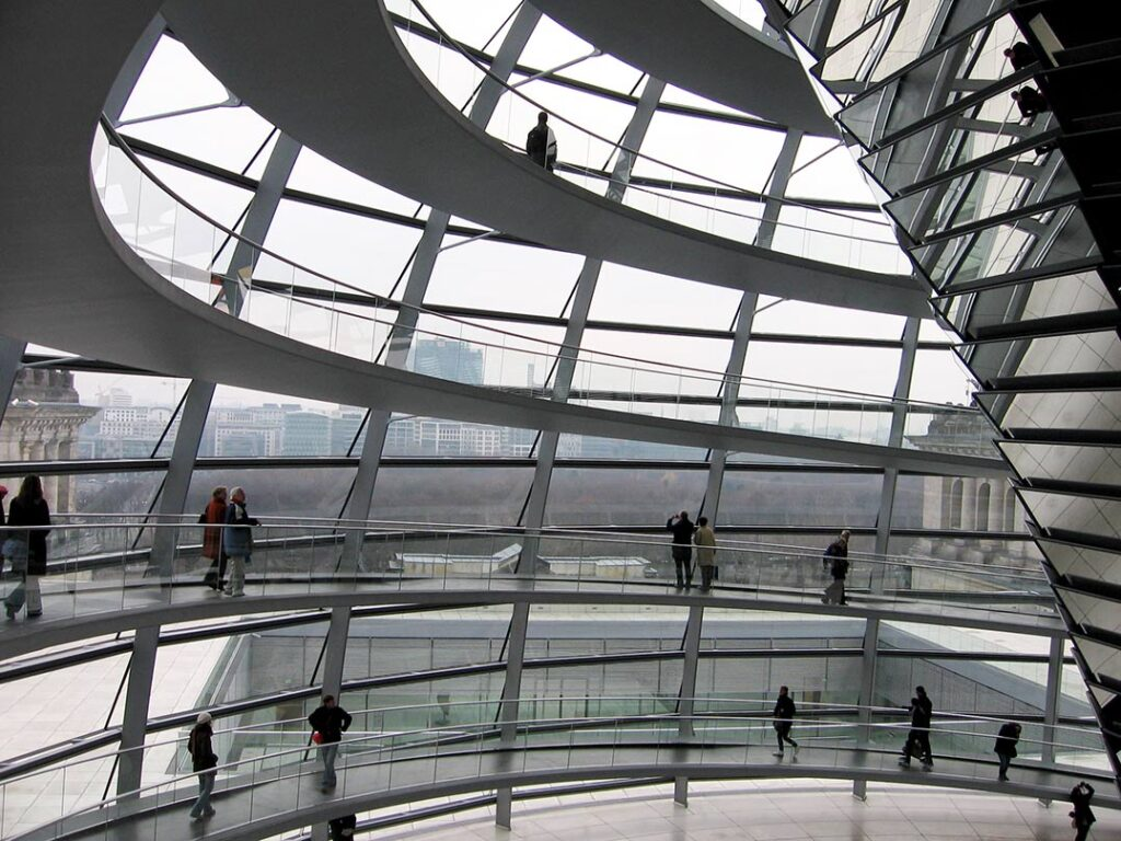 The Reichstag building is defined by its magnificent dome. <em>- by SL Wong</em>