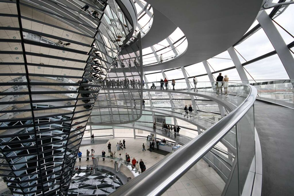 The spiral walkway leads to the dome's crown. <em>- by SL Wong</em>